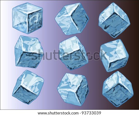 vector illustration of ice