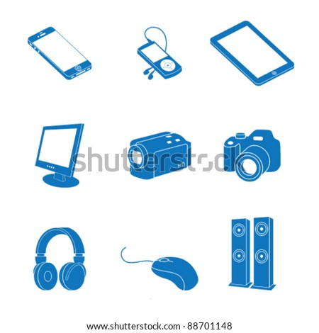Vector illustration of icon on electronics