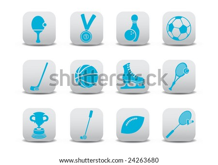 Vector illustration of  icon set or design elements relating to sports