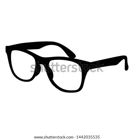 vector illustration of iconic silhouette glasses
