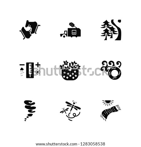 vector illustration of 9 icons