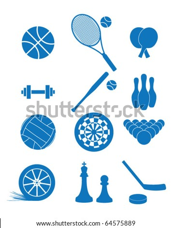 Vector illustration of icons of sport