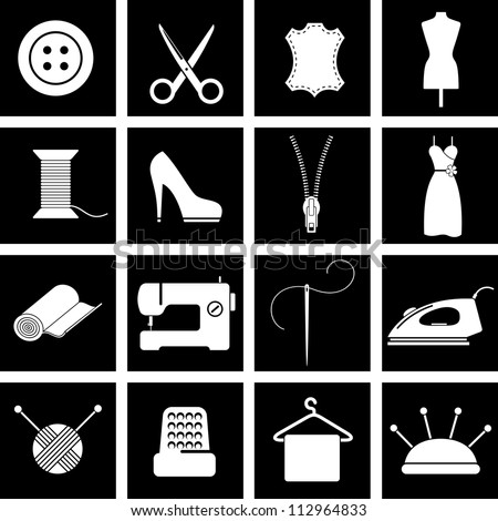 Vector illustration of icons on clothing