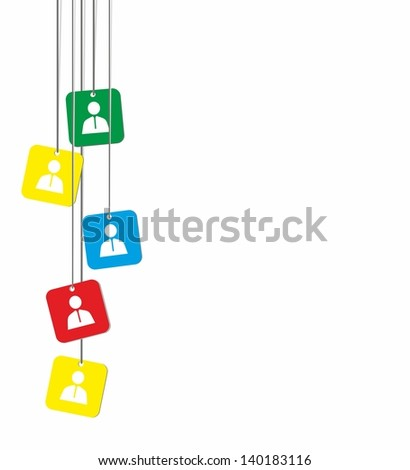 Vector illustration of identification cards .Abstract image.