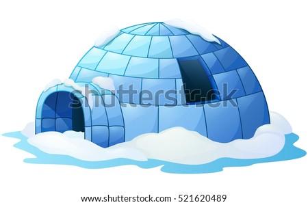 vector illustration of igloo