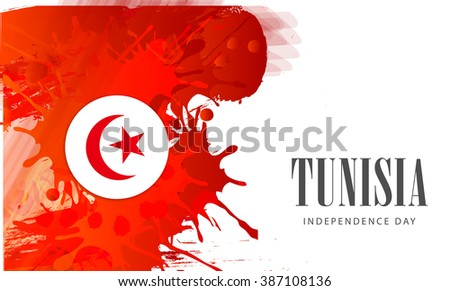 Vector illustration of independence day of Tunisia. #387108136