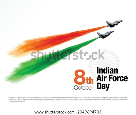 Vector Illustration of Indian Air Force Day