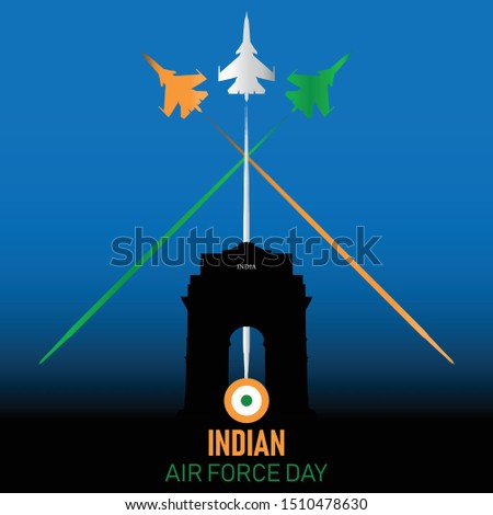 Vector illustration of Indian Air Force Day. 8th of October