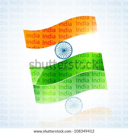 vector Illustration of indian flag