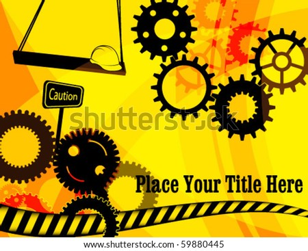 vector illustration of industrial background