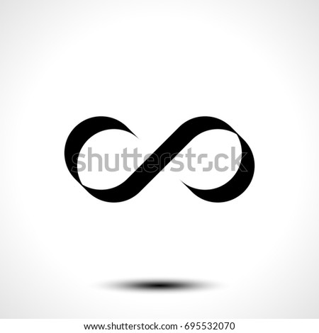 Vector Illustration of Infinity symbol or logo design isolated on white background #695532070