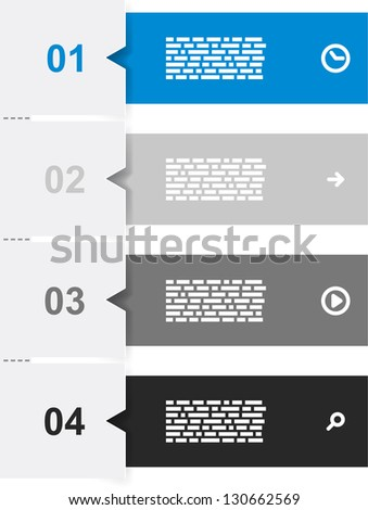 Vector illustration of infographic template design. Eps10
