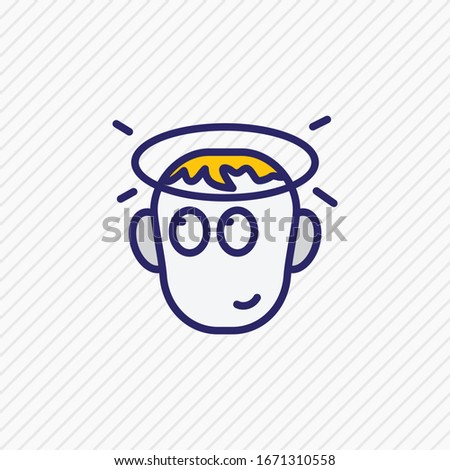 Vector illustration of innocent icon colored line. Beautiful emoticon element also can be used as innocence icon element.