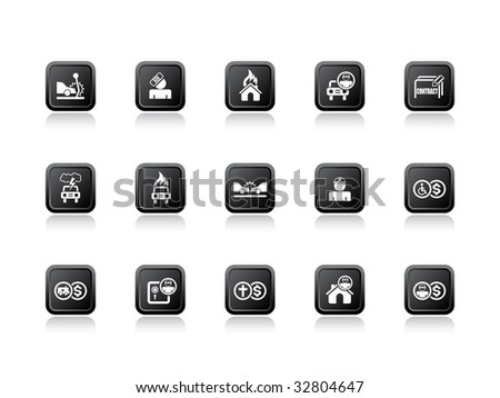 Vector illustration of insurance icons