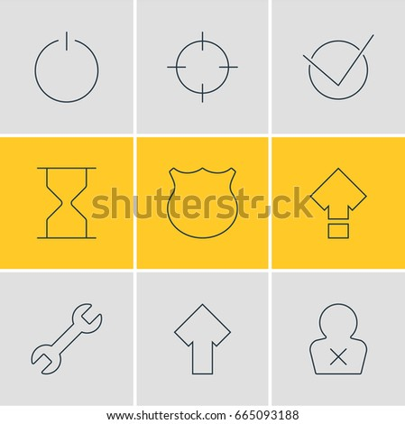 Airstock is - Vector Illustration Of 9 Interface Icons