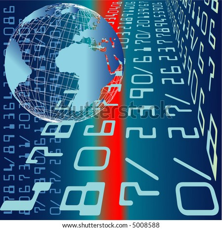vector illustration of international credit card