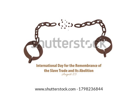Vector Illustration of International Day for the Remembrance of the Slave Trade and Its Abolition. August 23. Foto stock ©