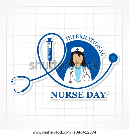 Vector illustration of International Nurse Day stock image and symbols