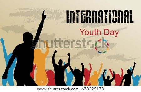 Vector illustration of International youth day background