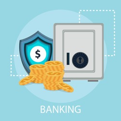 Vector illustration of internet banking and online payment with