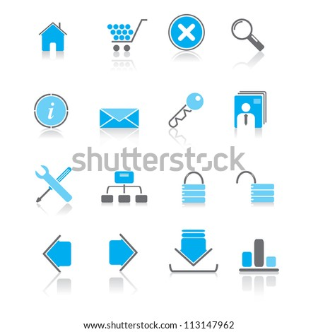 Vector illustration of internet icons.