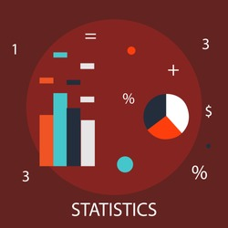 Vector illustration of investment & statistical concept with