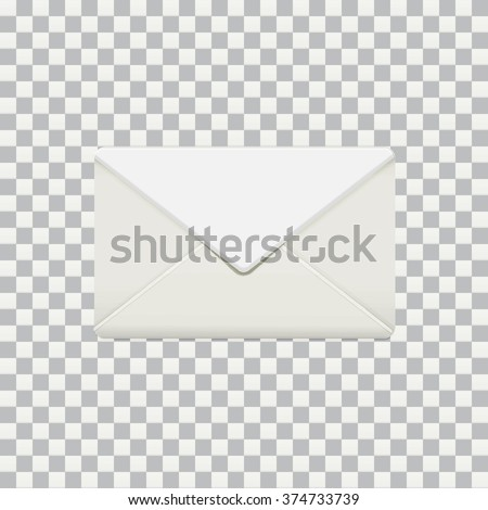 Vector illustration of isolated photo-realistic envelop mock up on transparent photoshop background EPS 10