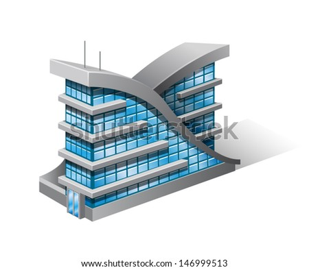 Vector illustration of isometric house.