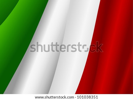 Vector illustration of Italy flag - stock vector