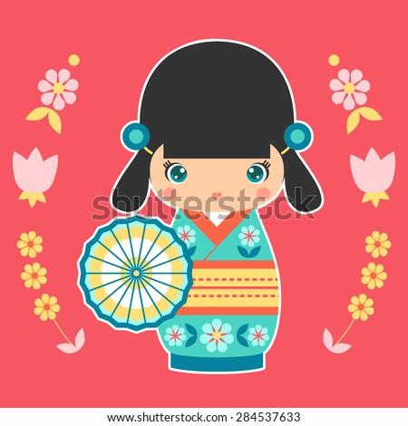 vector illustration of japanese