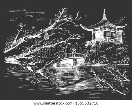 vector illustration of japanese