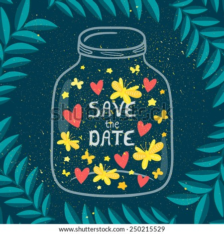 vector illustration of jar with