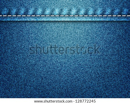 Vector illustration of jeans texture - stock vector