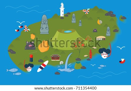 vector illustration of jeju