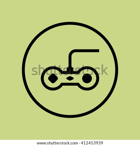 vector illustration of joystick