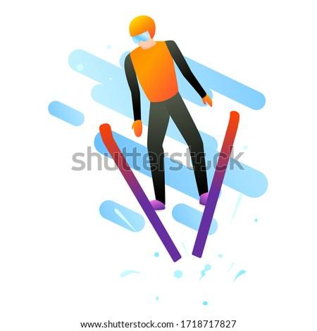 vector illustration of jumping