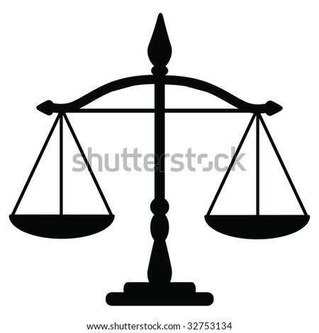 Vector illustration of justice scales - stock vectorUnbalanced Scale Of Justice Vector