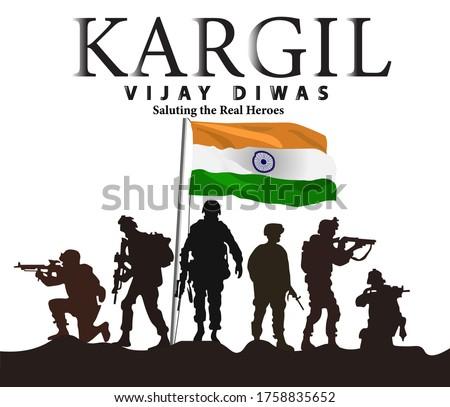 vector illustration of Kargil vijay diwas