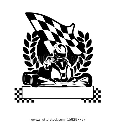 Vector illustration of kart symbol