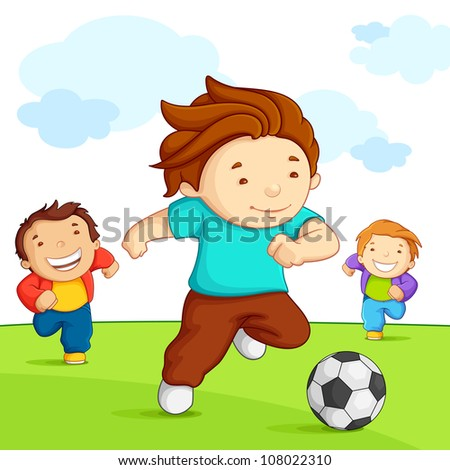 vector illustration of kid