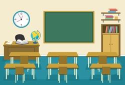 Vector Illustration Of Kids Classroom