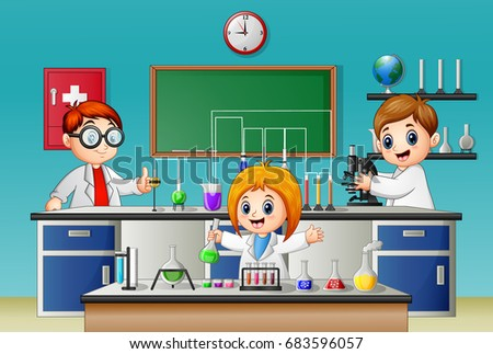 vector illustration of kids...