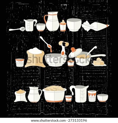vector illustration of kitchen