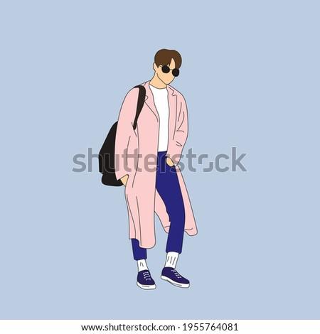 vector illustration of kpop