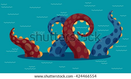 vector illustration of kraken