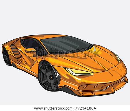 Stock Photo vector illustration of Lamborghini  car  separate on white background. Editable vector file.
