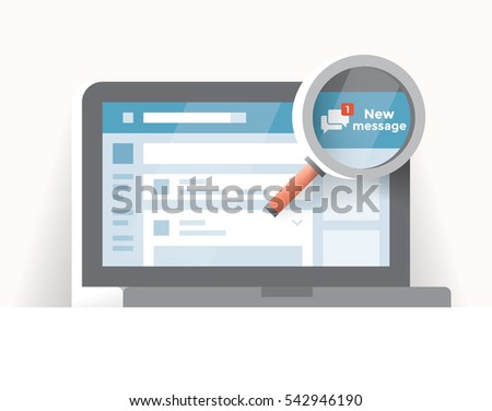 vector illustration of laptop