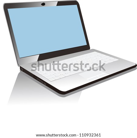 Vector Illustration of laptop Isolated on White Background. esp 8 .