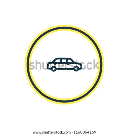 Airstock Is Vector Illustration Of Large Car Icon Line Beautiful