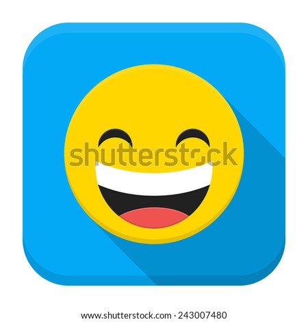 vector illustration of laughing